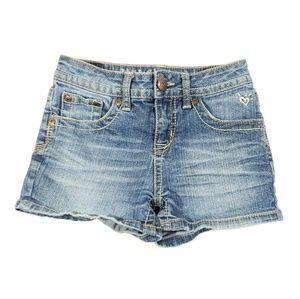 Justine girls jean shorts size 10 regular blue